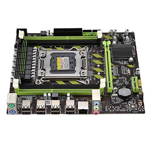 Andifany Placa Base para Pc Computadora de Escritorio X79 Lga 2011 de Doble Canal 4Xddr3 Dimm hasta 64 GB de Memoria Sata 3.0 Pci-E 8Usb para Core I7 Xeon E5