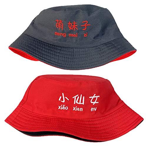 JK Home Sombrero reversible 2 en 1 de algodón con protección solar para niños y niñas, deportes al aire libre, edad 1-6 F