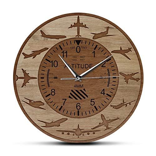 gongyu Aviones, medición de altitud, Reloj de Pared Impreso, señal de altímetro de avión, Reloj de Pared Decorativo, aviación, decoración del hogar, Regalo de piloto