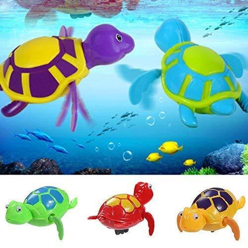 Cxjff SODIAL flotante del viento de la natación de la tortuga de verano juguete for niños Los niños Piscina Bath