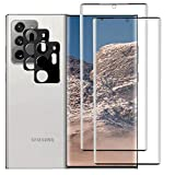 ELYAN 2+2 Pack Tempered Glass Screen Protectors and Camera Lens Protectors Compatible with Samsung Galaxy Note 20 Ultra/Note 20 Ultra 5G, 3D Curved,HD Clarity,9H,Case Friendly,Bubble Free,6.9'