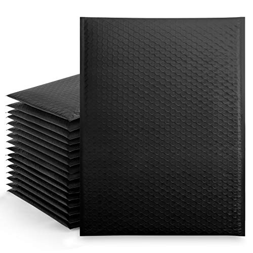 Metronic 25Pcs Poly Bubble Mailers,10.5X16 Inch Envelopes Padded Bulk #5, Bubble Envelopes Lined Wrap Polymailer Bags for Shipping/ Packaging/ Mailing Self Seal Black