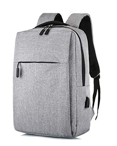 HAT YOU – Multifunktioneller Rucksack mit USB - Anschluss - 28x41x12 cm, Taschen:Grau