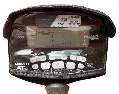 DetectorCovers Garrett AT Pro Detector DE Metales Cubierta Cubierta con Visera, EN Tela DE PVC Negro 600