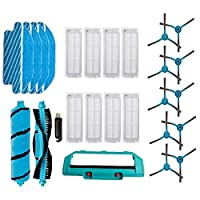 家庭用クリーニングローラーブラシフィットコンガ3490 3290掃除機のサイドブラシのためのフィルターフィットMijia StyJ02YM代替モップ布の布の布をカバーする(色:1ローラーブラシ) (Color : Set 7)