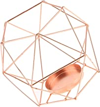 MagiDeal Industrial Design Hollow 3D Geometric Terrarium Lantern Planter Candle Holder Mood Tea Light Holder Case - Rose Gold
