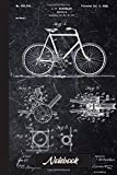 Vintage Patent Print 1900 Bicycle Cycling Notebook: Mountain bike MTB notebook and drawing book | Father's Day gift for fathers, men, mountain bikers, cyclists and bicycle fans