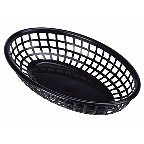Genware nev-ffb23-b Fast Food mand, 23,5 cm x 15,4 cm, zwart (6 stuks)