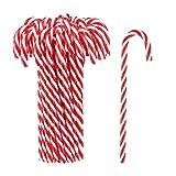 20 Piezas / 50 Piezas de Bastones de Caramelo de plástico navideño, Juguete Trenzado, muleta,...