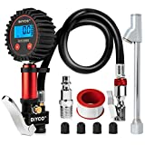 DIYCO D3.4 Digital Tire Pressure Gauge and Tire Inflator with Gauge Air Tool, Lock-on Air Chuck