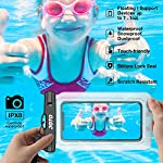 [2 Pack] JOTO Floating Waterproof Phone Case Pouch, Underwater Dry Bag for Swimming Diving Boating Beach, for iPhone 12…