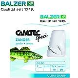 Balzer Camtec Zander Haken 80cm - 10 gebundene Angelhaken zum Zanderangeln, Einzelhaken,...