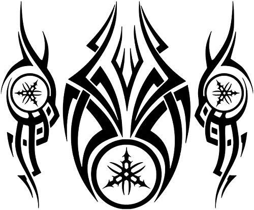 Kit x3 Pegatinas Vinilo Logo Yamaha Tribal - Casco, Coche, Moto, Bici, Tabla Skate, etc.