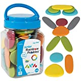 edxeducation - LAD-229 13229 Junior Rainbow Pebbles - Earth Colors - Mini Jar - Ages 18M+ - Sorting and Stacking Stones - Early Math Manipulative for Children - First Counting and Construction Toy