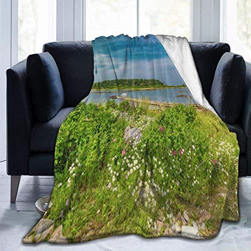 RomaniaGH Paradijs in Maine Ultra Soft Fleece Gooi Deken Gezellige Warm Pluche Gooi Deken voor Slaapbank/Bed/Zakje