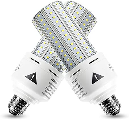 2 Pack 500W Equivalent LED Corn Light Bulb 7500 Lumen 5000K 60W Cool Daylight White E26 E27 product image