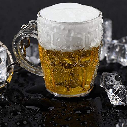 YUIOP LlaveroTaza de Cerveza Colgante LlaveroJoyeríaColgante deNavidad