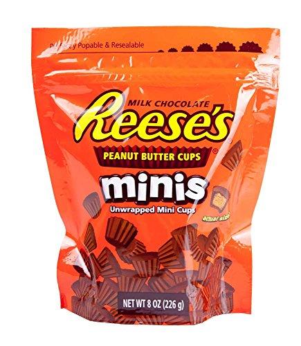 Reese's Mini's Peanut Butter Cups, Resealable Bag 226gr. - aus den USA