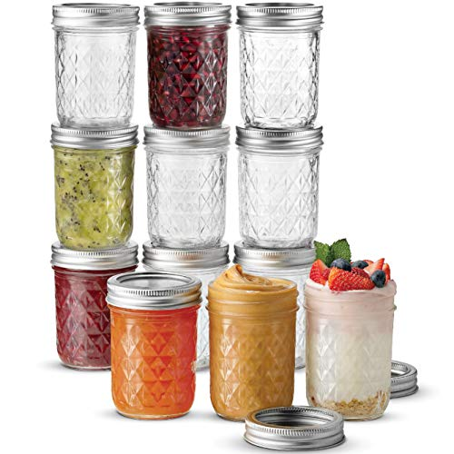 Ball Regular Mouth Mason Jars 8 oz, 12 Pack