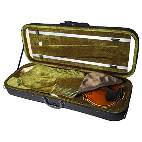 SKY 16 Inch Viola Oblong Case Lightweight with Hygrometer Black/Green