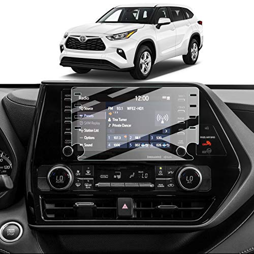 Screen Protector Foils for 2020 2021 Highlander Navigation Display Tempered Glass 9H Hardness Anti-Explosion & Scratch HD Clear Toyota GPS LCD Protective Film
