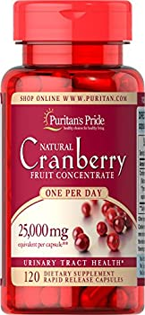 Puritan s Pride One A Day Cranberry Capsules 120Count
