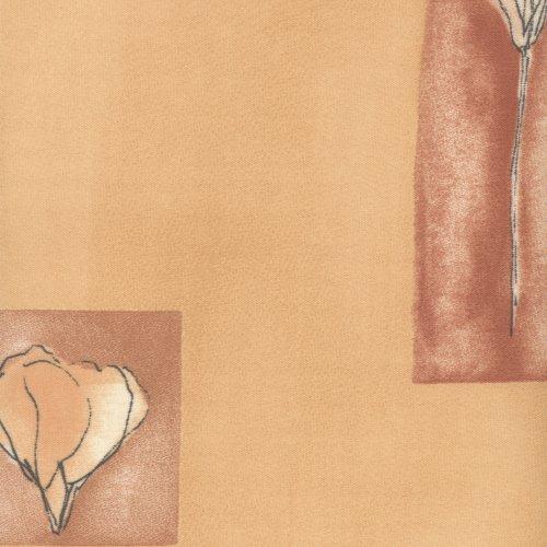 Liedeco® rolgordijn, raam rolgordijn, kettingrolgordijn / 62 x 180 cm (breedte x hoogte), bloemen oranje / stof met decor, lichtdoorlatend, ondoorzichtig / vele kleuren, maten en types / breedtes 60-200 cm / variabele montage mogelijk / Made in Germany