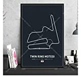 Poster Formel 1 Race Circuit Park Zandvoort F1 Circuit