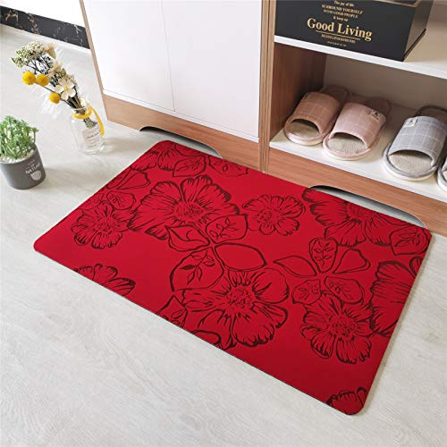 QWEASDZX Modern Minimalist Carpet Children Crawling Non-Slip Living Room Bedroom Mat Decorative Rug Living Room Rug 60x90cm