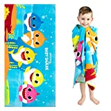 "Franco Kids Super Soft Cotton Beach Towel, 28"" x 58"", Baby Shark"