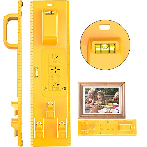 Picture Hanging Tool with Level Photo Frame Hanger Leveler Tools Picture Frame Ruler for Marking Position Easy Frame Hanger Wall Hanging Kit