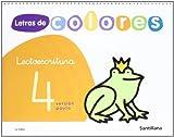 Letras de colores, lectoescritura. Cuaderno 4 (pauta)