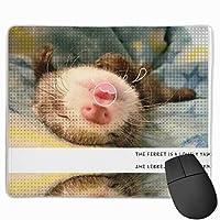【2021新款】マウスパッドferret Yawn Make Me Happy マウスパッドゲーミングマウスパッド大型ゲーミング滑り止めハイエンド流行のファッション防水耐久性滑り止めラバーボトム 25*30cm