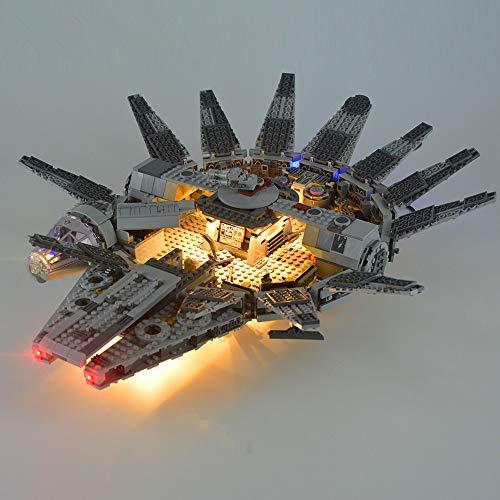 EDCAA Led Licht (nur Licht Set) für Millennium Falcon Space Ship Block Licht Set kompatibel mit Lego 75105 (Modell Nicht Enthalten)