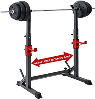 Adjustable Squat Rack with Bench Press,Steel Squat Barbell Free Bench Press with A Maximum Load of 550Lbs Max Load for Gym...
