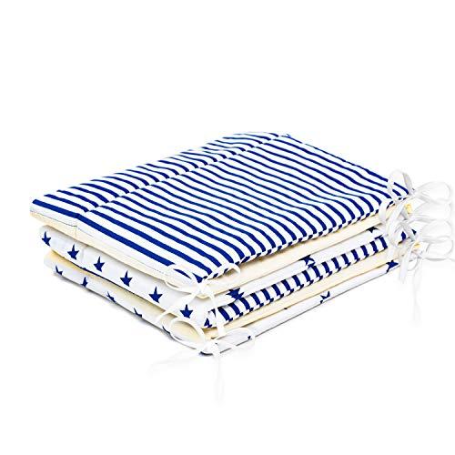 pour lit 120x60 cm PatiChou Navy Tour de lit b/éb/é 180x40 cm tissu 100/% coton motif g/éom/étrique