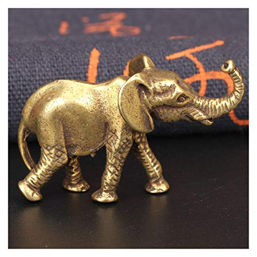 SMchwbc Antiguo Miniatura de Bronce Elefante Figurines té Tabla Mascotas Ornamento Decoración Animal sólido de Cobre Crafts Decoración de la Sala (Color : Elephant Figurine)