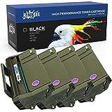 RINKLEE 407166 Cartucho de Toner Compatible para Ricoh SP100 SP112 SP100e SP100SF SP100SFe SP100SU SP100SUe SP110 SP112e SP112SF SP112SFe SP112SU SP112SUe | Alta Capacidad 1200 Páginas | Negro, 4-Pack