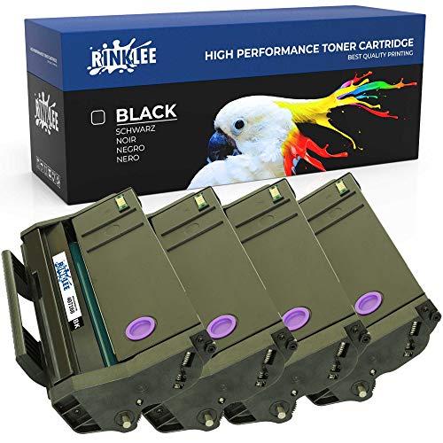 RINKLEE 407166 Cartucho de Toner Compatible para Ricoh SP100 SP112 SP100e SP100SF SP100SFe SP100SU SP100SUe SP110 SP112e SP112SF SP112SFe SP112SU SP112SUe | Alta Capacidad 1200 Páginas | Negro, 4-Pack 🔥