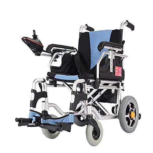 Y-L uittrekbare elektrische rolstoel, robuust, inklapbaar en licht, met elektrische wielen, breedte van de zitting 45 cm, joystick 360 °, gewicht 100 kg