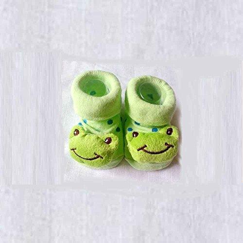 HuntGold süße Baby Kid Kleinkind Neugeborenes 3D Cartoon kurz Sock Slipper Kinder Bootie (Frosch)