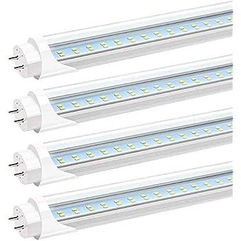 10 pack LED G13 4FT 4 Foot T8 Tube Light Bulbs Shop Lamp Milky Lens 18W