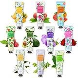 Winload Set de 10 Crema de Manos, Crema Hidratante Corporal con 10 Fragancias, Crema de Manos Reparadora, Juegos para el Cuidado de la Piel, Regalos Originales para Mujer, Niños, Navidad, Cumpleaño