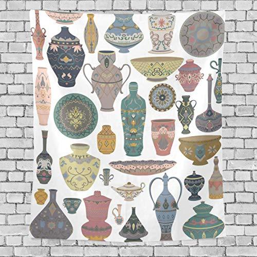 AEMAPE Colección de Utensilios árabes Tradicionales, Tapiz Vertical para Dormitorio, Tapiz para Colgar en la Pared, tapices Decorativos Multiusos, tapices para, Sala de Estudio,60 x 80 Pulgadas