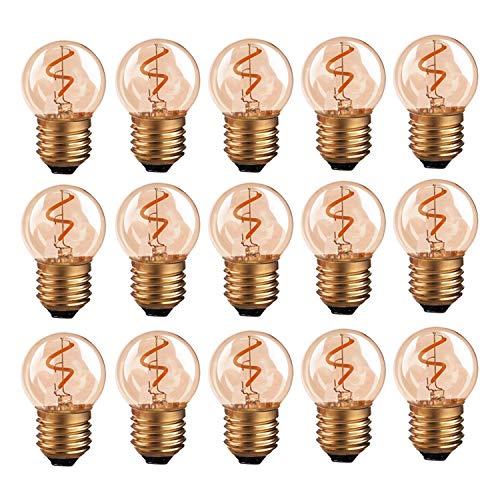 Hcnew G40 E27 LED Bombilla de filamento retro Edison Mini globo Bombilla...