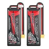 GOLDBAT 5200mAh 2S 70C 7.4V RC LiPo Battery Hard Case with XT60 Plug for RC Evader BX Car RC Truck RC Truggy (2 Packs)
