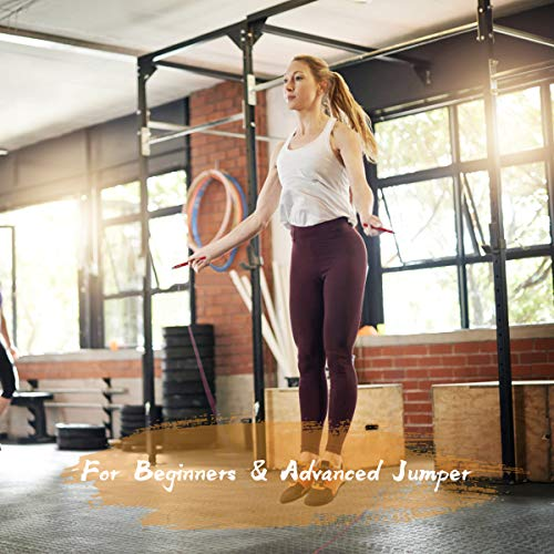 5BILLION Jump Rope & Skipping Rope - 360° Swivel Ball Bearing - Adjustable - Workout for Double Unders, Fitness, Exercise, WOD, Outdoor, MMA & Boxing Training (Orange)