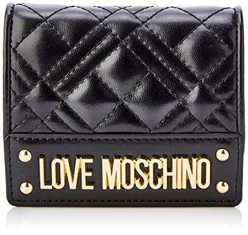 Love Moschino Damen Jc5601pp1a Geldbörse, Schwarz (Nero), 2x10x19 centimeters