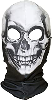 Adulto Halloween Argento Cyborg Teschio Maschera Costume Accessorio