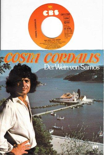 Der Wein von Samos / Das kleine Haus am Meer / COSTA CORDALIS / Bildhülle 1979 / Deutsche Pressung / CBS # CBS S 7392 / 7